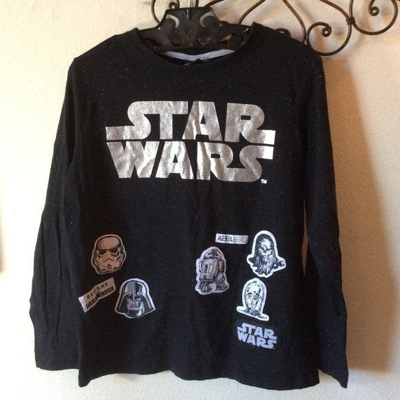 Star Wars Other - Star Wars Patches Long Sleeve stars tee Vader